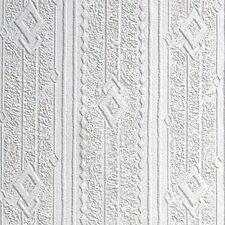 Anaglypta Paintable Tandle Geometric Embossed Wallpaper