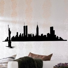 Euro New York Skyline Wall Decal