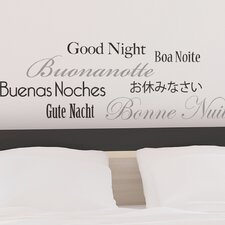 <strong>Brewster Home Fashions</strong> Euro Good Night Quote Wall Decal