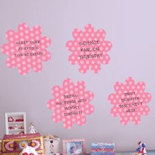 WallPops Daisy Whiteboard Wall Decal (Set of 4)