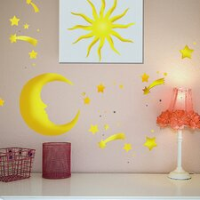 Euro Moon & Stars Wall Decal