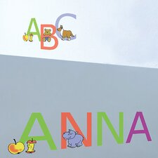 Euro ABC Wall Decal