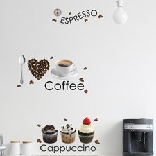 <strong>Brewster Home Fashions</strong> Euro Espresso Wall Decal