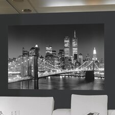 <strong>Brewster Home Fashions</strong> Ideal Decor Brooklyn Bridge Wall Mural
