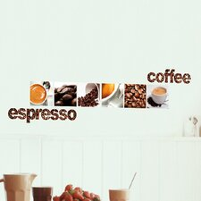 <strong>Brewster Home Fashions</strong> Euro Coffee Wall Decal