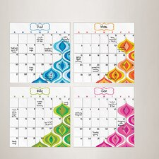 <strong>Brewster Home Fashions</strong> Jonathan Adler WallPops Calendar Whiteboard Wall Decal (Set of 4)