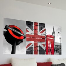 <strong>Brewster Home Fashions</strong> Euro London Panoramic Wall Decal