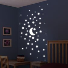 Euro Glow in the Dark Stars Wall Decal