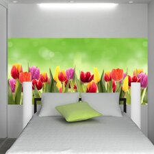 Euro Flowers Panoramic Wall Decal