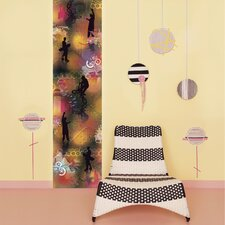 <strong>Brewster Home Fashions</strong> Stripe Euro Jumping Jack Flash Wall Decal