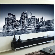 <strong>Brewster Home Fashions</strong> Euro Night View Panoramic Wall Decal