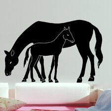 Euro Mare and Foal Wall Decal