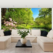 <strong>Brewster Home Fashions</strong> Ideal Décor Park in the Spring Wall Mural