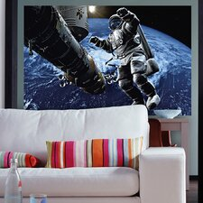 Ideal Décor Space Cowboy Wall Mural