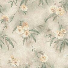 Kitchen & Bath Resource III Segal Textured Trail Floral Wallpaper