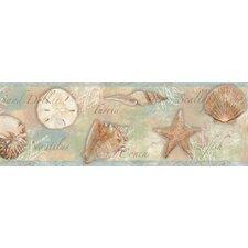 Borders by Chesapeake Quinten Seashells Toss Border Wallpaper