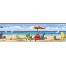Borders by Chesapeake Lori Summer Beach Portrait Scenic Border Wallpaper