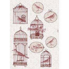 Komar Living Bird Cage Decals