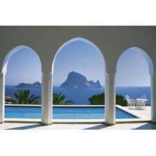 <strong>Brewster Home Fashions</strong> Komar Pool and Arches, Mallorca 8-Panel Wall Mural