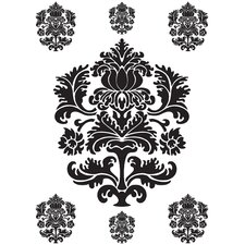 Spirit Black and White Damask Decals