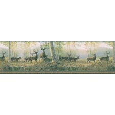 Northwoods Marvelous Scenic Deer Border Wallpaper