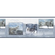 <strong>Brewster Home Fashions</strong> Northwoods Wolf Snapshot Border Wallpaper