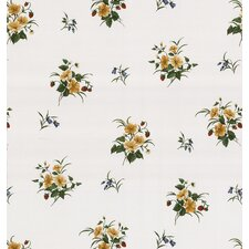 Kitchen and Bath Resource II Strawberry Floral Print Wallpaper