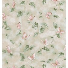 Kitchen and Bath Resource II Butterfly Lily Pad Trail Wallpaper
