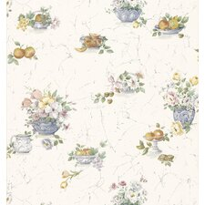 Kitchen and Bath Resource II Fruit and Floral Wallpaper