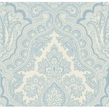 Echo Design Paisley Wallpaper in Carolina Blue