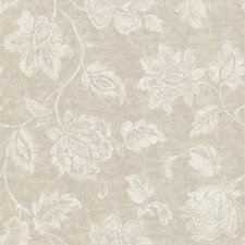 Joseph Abboud Designed Jacobean Wallpaper in Neutral