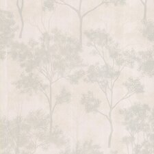 Joseph Abboud Designed Trees Wallpaper in Tonal Pearly