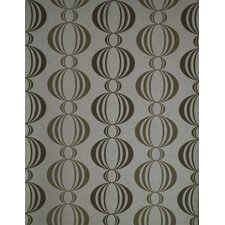 Verve Retro Orb Wallpaper in Tonal Creamy Silver