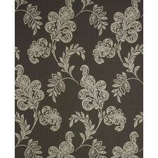 Verve Jacobean Wallpaper in Silver