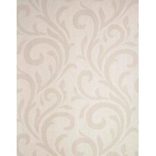 Verve Swirl Wallpaper in Tonal Creamy Taupe