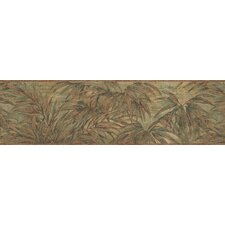 <strong>Brewster Home Fashions</strong> Destinations by the Shore Bamboo Leaf Letter Border Wallpaper