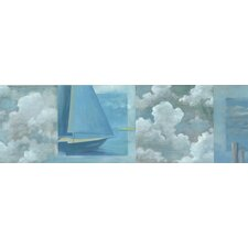Destinations by the Shore Sailboat Snapshot Wall Border