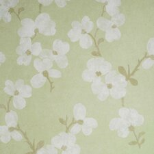 Verve Blossom Wallpaper in Minted Green
