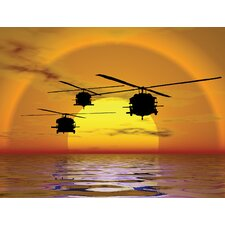 <strong>Brewster Home Fashions</strong> Phoenix Sunset Helicopter Wall Mural