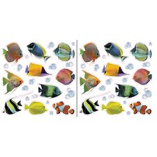 Euro Fishes Window Decal