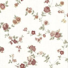 <strong>Brewster Home Fashions</strong> La Belle Maiso Rosetta Floral Trail Wallpaper