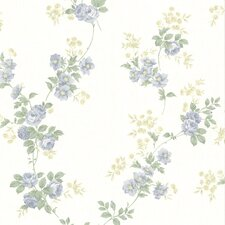 <strong>Brewster Home Fashions</strong> La Belle Maison Blossom Rose Trail Wallpaper