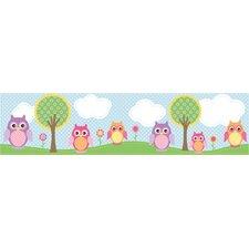 Kids World Owls In The Hood Light Owl Wallpaper Border