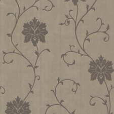 <strong>Brewster Home Fashions</strong> Zinc Dahli Floral Trail Wallpaper