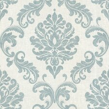 <strong>Brewster Home Fashions</strong> Zinc Sebastion Damask Wallpaper