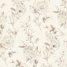 <strong>Brewster Home Fashions</strong> Zinc Jolie Floral Toss Wallpaper