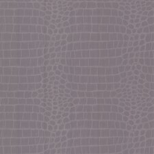 <strong>Brewster Home Fashions</strong> Zinc Croc Crocodile Wallpaper