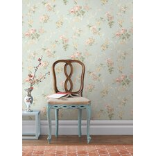 Springtime Cottage Floral Acanthus Trail Wallpaper