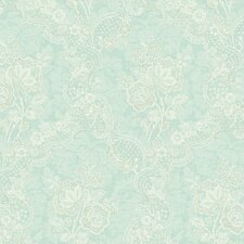 <strong>Brewster Home Fashions</strong> Springtime Cottage Lace Floral Wallpaper