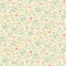 <strong>Brewster Home Fashions</strong> Springtime Cottage Dense Floral Toss Wallpaper
